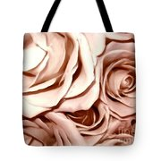 Pink Roses Bouquet Sketchbook Effect Tote Bag