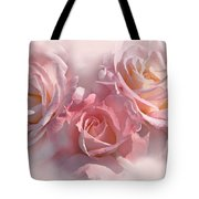 Pink Roses In The Mist Tote Bag