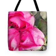 Pink Roses Tote Bag