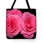 Pink Roses With Brush Stroke Effects Tote Bag