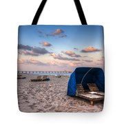 Pink Sands Tote Bag by Debra and Dave Vanderlaan