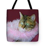 Pink Scarf Tote Bag