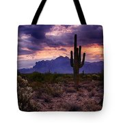 Pink Skies At The Superstitions Tote Bag