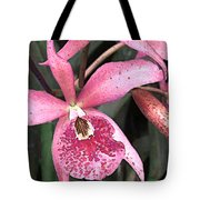 Pink Spotted Cattleya Orchids Tote Bag