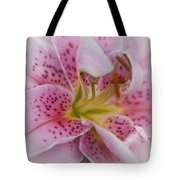 Pink Spotted Lily Tote Bag