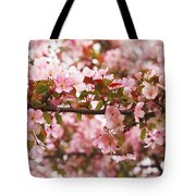 Pink Spring Apple Blossoms Tote Bag