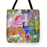 Pink Stairs Tote Bag
