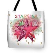 Pink Starfish Tote Bag