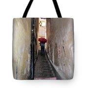Pink Step Tote Bag