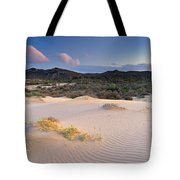 Pink Sunset At The Desert Tote Bag