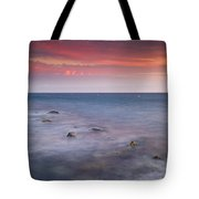 Pink Sunset At The Mediterraneas Sea Tote Bag