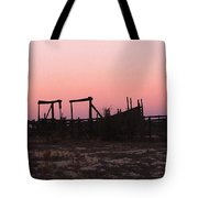 Pink Sunset Over Corral Tote Bag