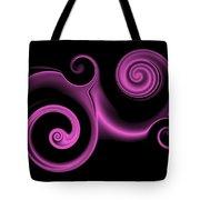 Pink Swirl On Black Tote Bag