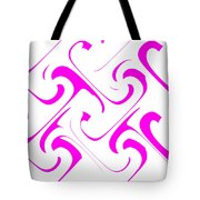 Pink Swirls Tote Bag