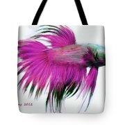Pink Tropical Fish Tote Bag