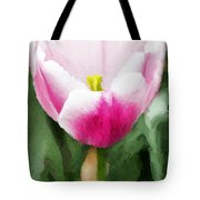 Pink Tulip - A Digital Painting Tote Bag