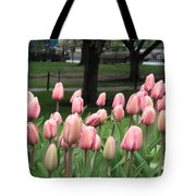 Pink Tulip Patch Tote Bag