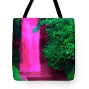 Pink Waterfall Tote Bag