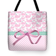 Pink Whales Tote Bag