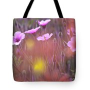 Pink Wild Geranium Tote Bag