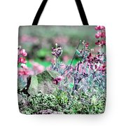 Pink Wildflowers Tote Bag