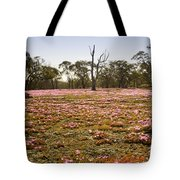 Pink Wildflowers Tote Bag