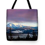 Pink Winter Clouds Tote Bag