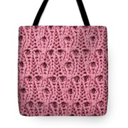 Pink Wool Tote Bag