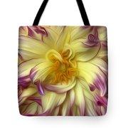 Pink Yellow Dahlia Tote Bag