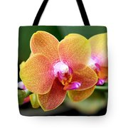 Pink Yellow Orchid Tote Bag