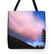 Pink Yellowstone Sunset Tote Bag