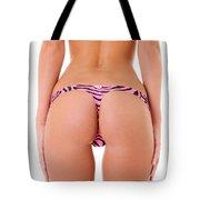 Pink Zebra Thong Tote Bag