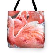Pinked Flamingos Tote Bag