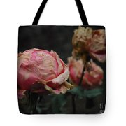 Pink Roses In The First Snow I V Tote Bag