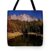 Pinnacle Buttes On Brooks Lake Creek Rocky Mountains Tote Bag