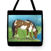 Pinto Mustang Horse Mare Farm Ranch Animal Art Tote Bag