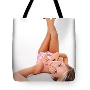Pinup Girl's Legs Tote Bag