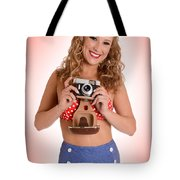 Pinup Photographer Tote Bag