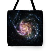 Pinwheel Galaxy Rainbow Tote Bag