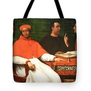 Piombo's Cardinal Bandinello Sauli And His Secretary And Two Geographers Tote Bag