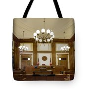 Pioneer Courthouse Courtroom In Portland Oregon Downtown Tote Bag