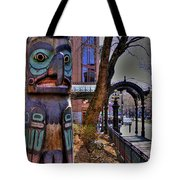 Pioneer Square Totem Pole Tote Bag
