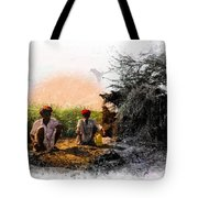 Pipe Smoking Ritual Chillum India Rajasthan 2 Tote Bag