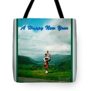 Piper Greeting The New Year Tote Bag