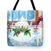 Pipers Sipping Christmas Tea Tote Bag