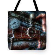 Pipes And Clocks Tote Bag