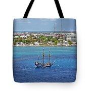 Pirate Ship In Cozumel Tote Bag