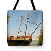Pirate Ship Or Sailing Ship Tote Bag
