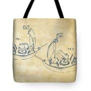 Pirate Ship Patent Artwork - Vintage Tote Bag