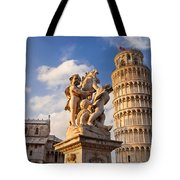 Pisa's Leaning Tower Tote Bag by Brian Jannsen